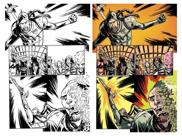 XTZ - Amigo cómics - Dibujo y tinta por Rubén Rojas