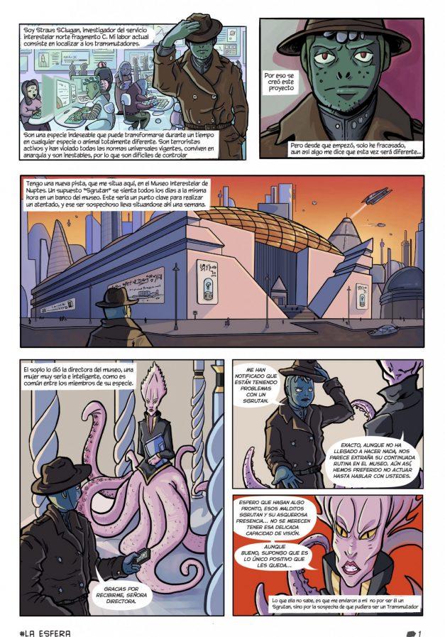 Una de las páginas del cómic que presentamos el año pasado