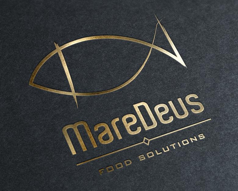 Diseño logotipo, presentación oro