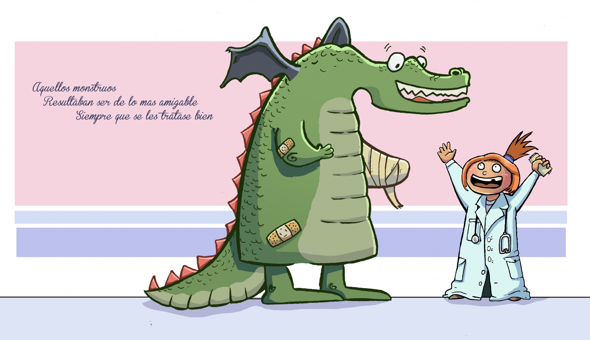 Ilustracion infantil dragon