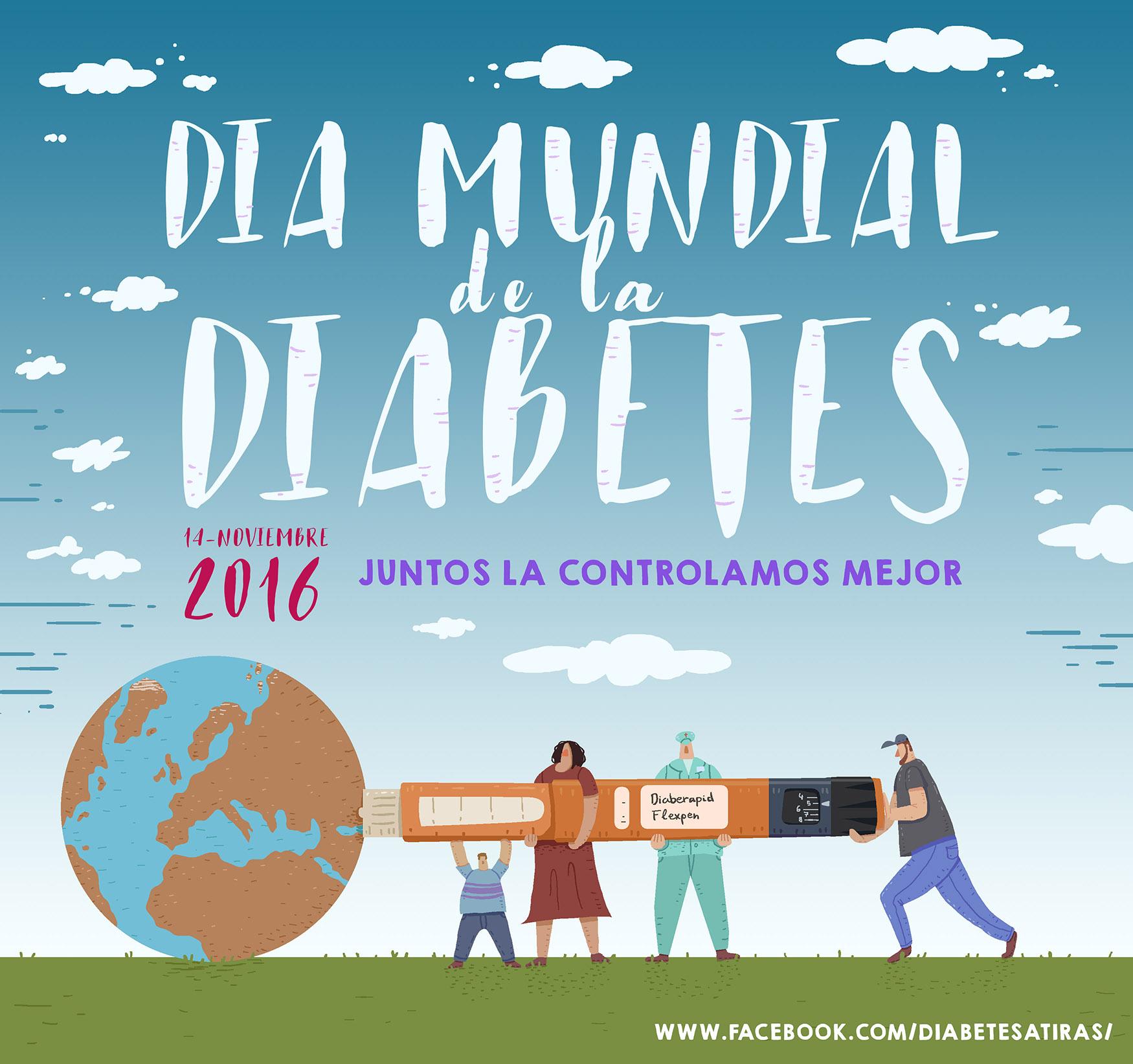 Ilustración dia mundia de la diabetes