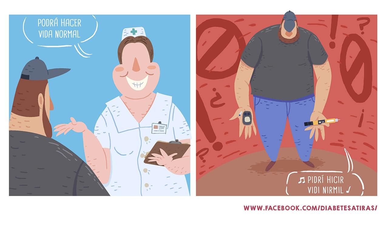 Tira comica diabetes