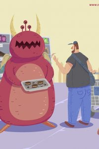 Ilustración diabetes a tiras