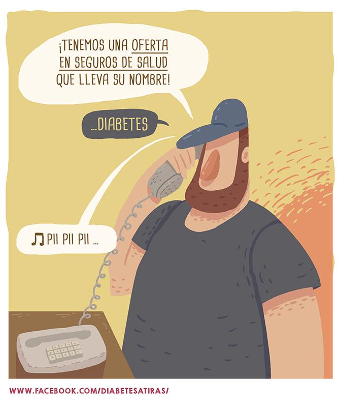 Ilustración tira cómica teléfono
