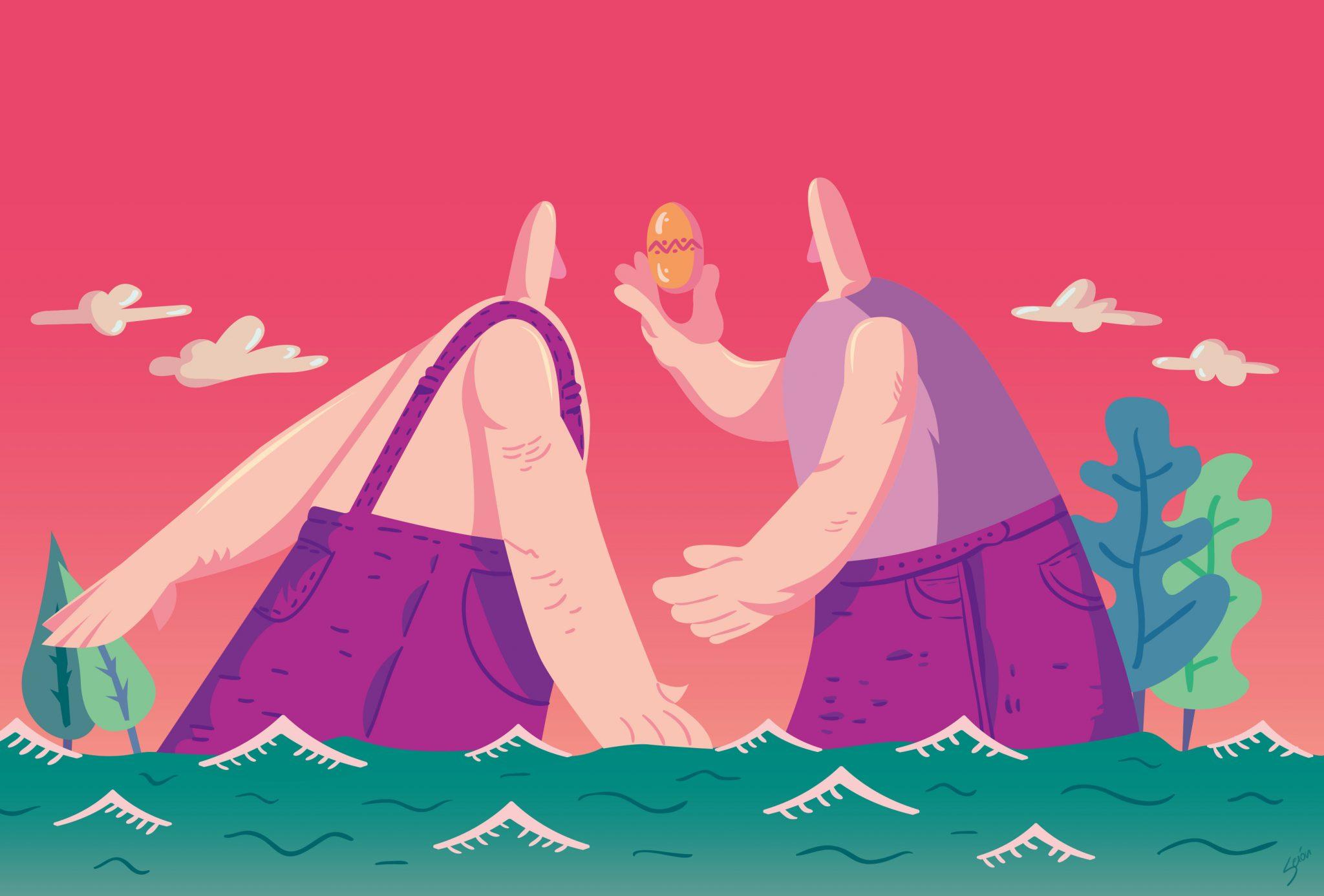 Ilustracion editorial gigantes