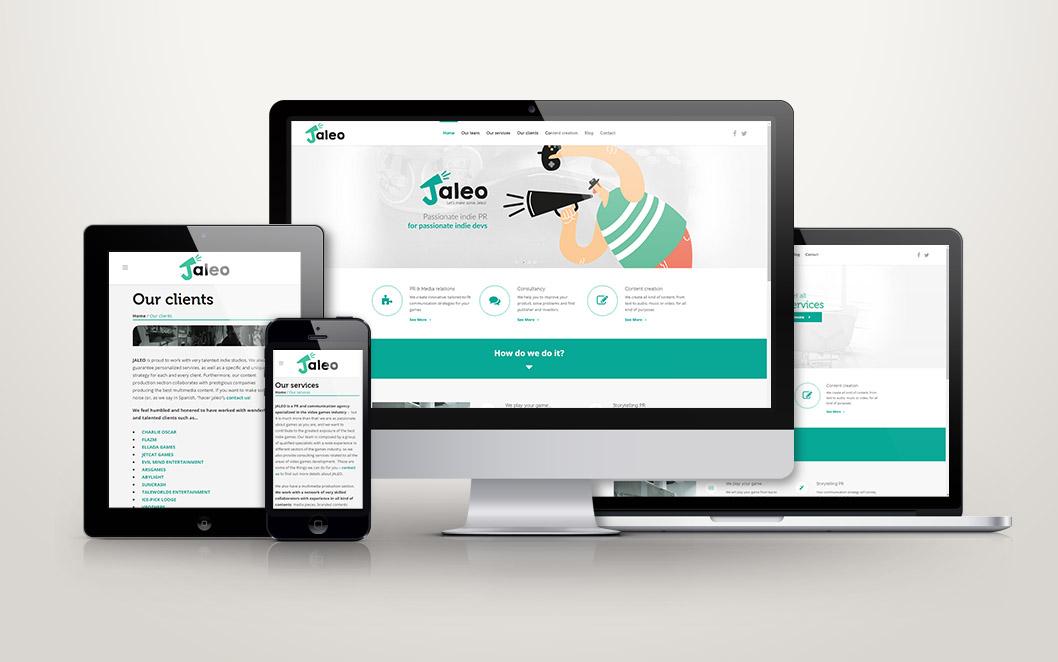 Diseño y maquetación web para Jaleo
