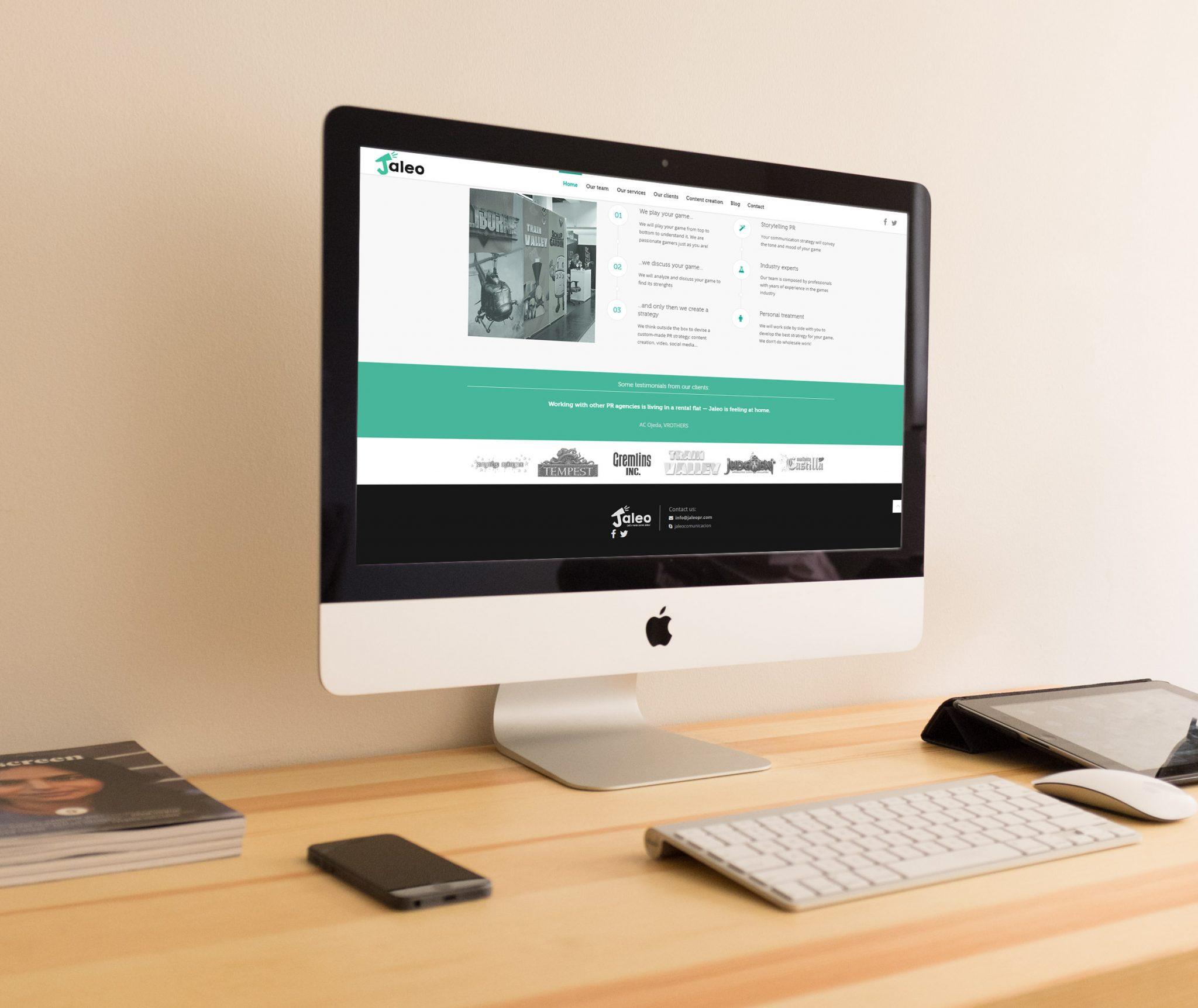 Diseño web para Jaleo