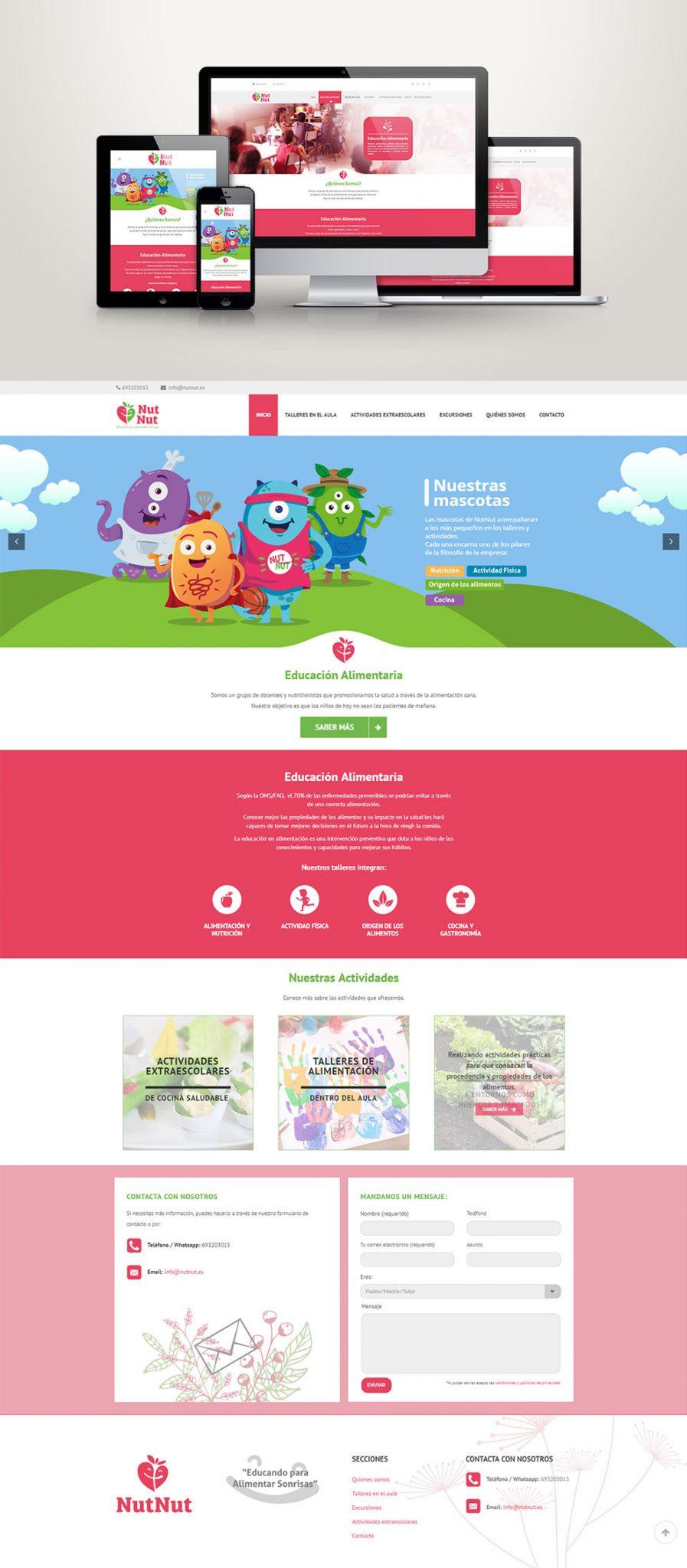 Diseño web educación nutricional