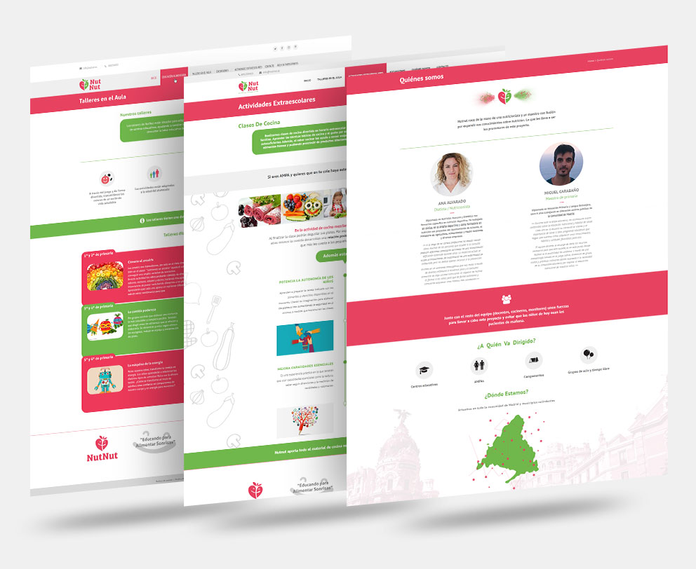 Diseños pagina web nutnut