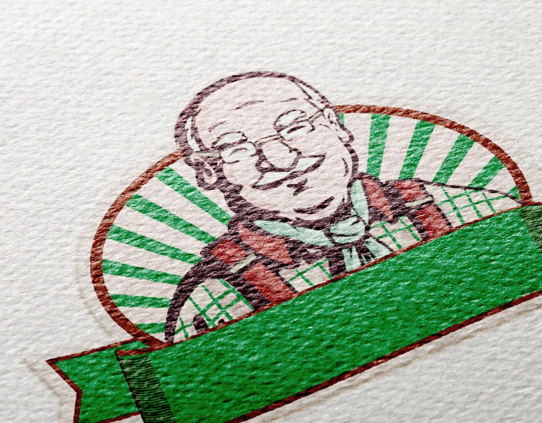 Detalle logotipo ilustrado ecológico