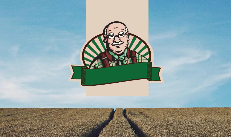 Implementación logotipo ilustrado para productos orgánicos