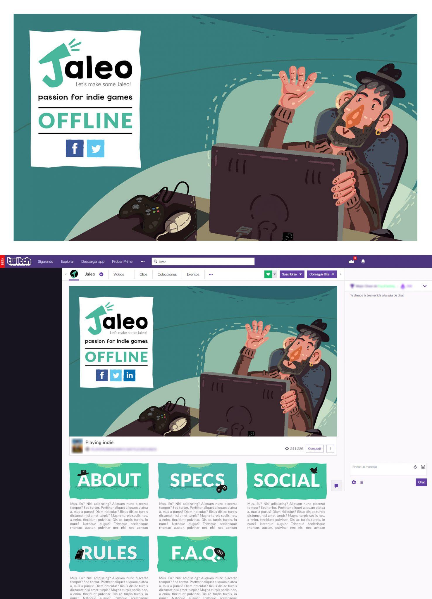 Ilustraciones para canal de twitch