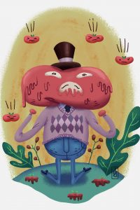 Ilustración tomate fantasia