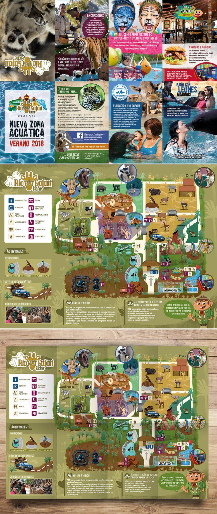 Diseño y maquetación de mapa zoo