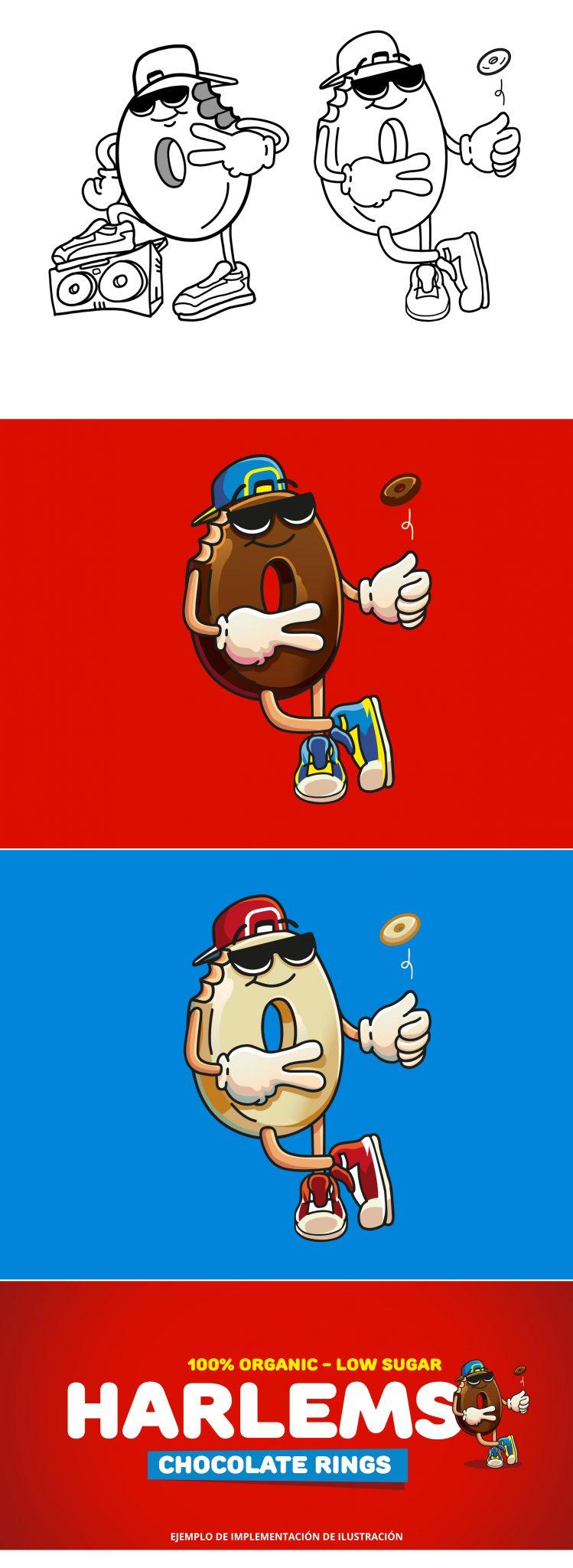 Aros de chocolate, mascota publicitaria