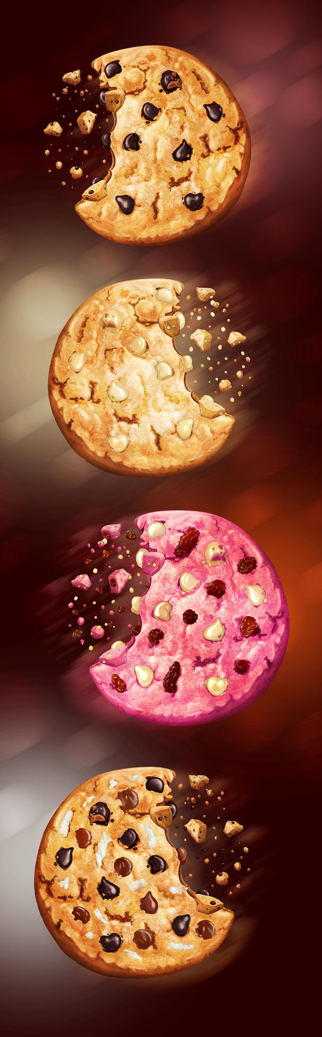 ilustraciones publicitarias galletas