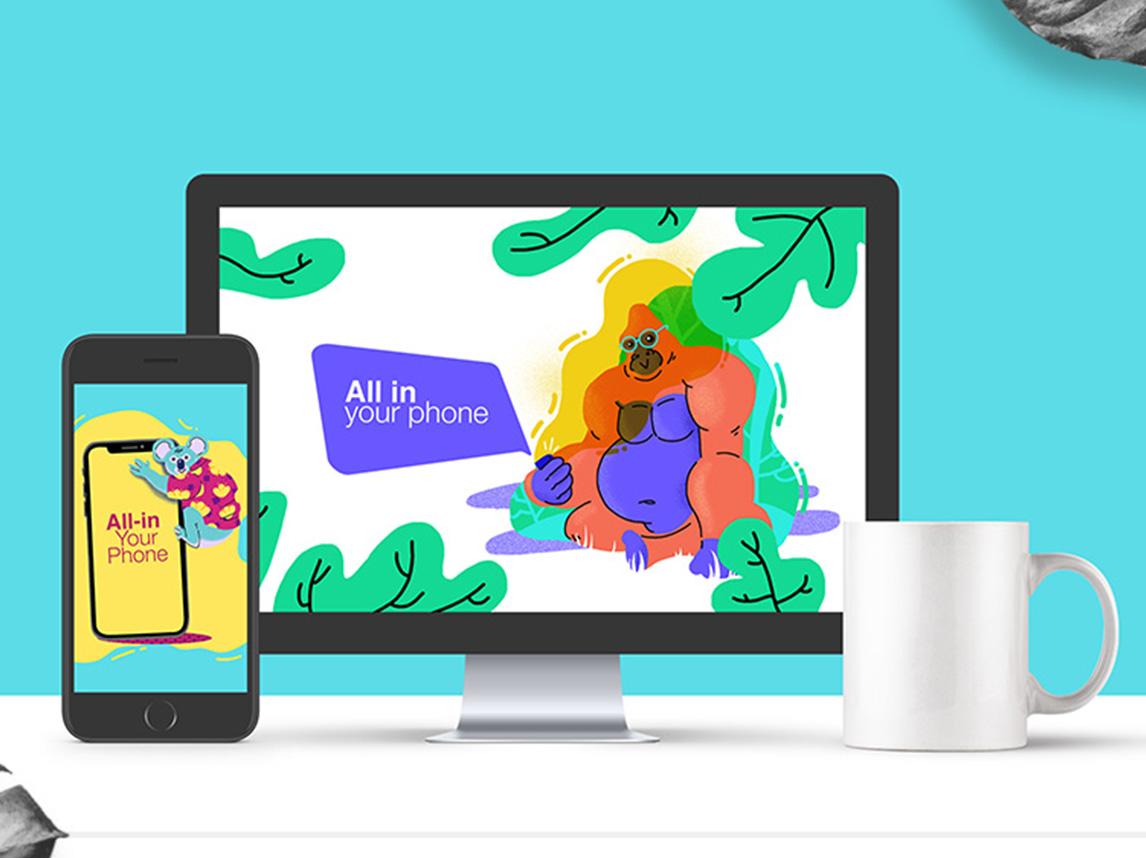 Ilustraciones animales para web