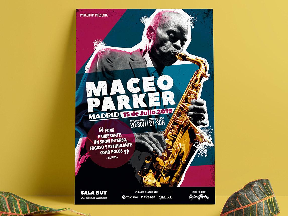 Cartelería concierto Maceo Parker