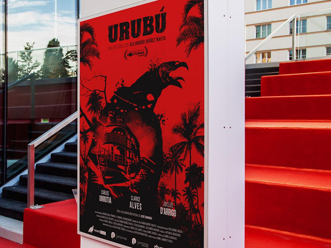 Urubú | Cartel película, diseño de logotipos y dossier